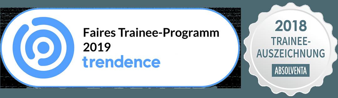 Auszeichnung für faire Traineeprogramme 2018 und 2019.
