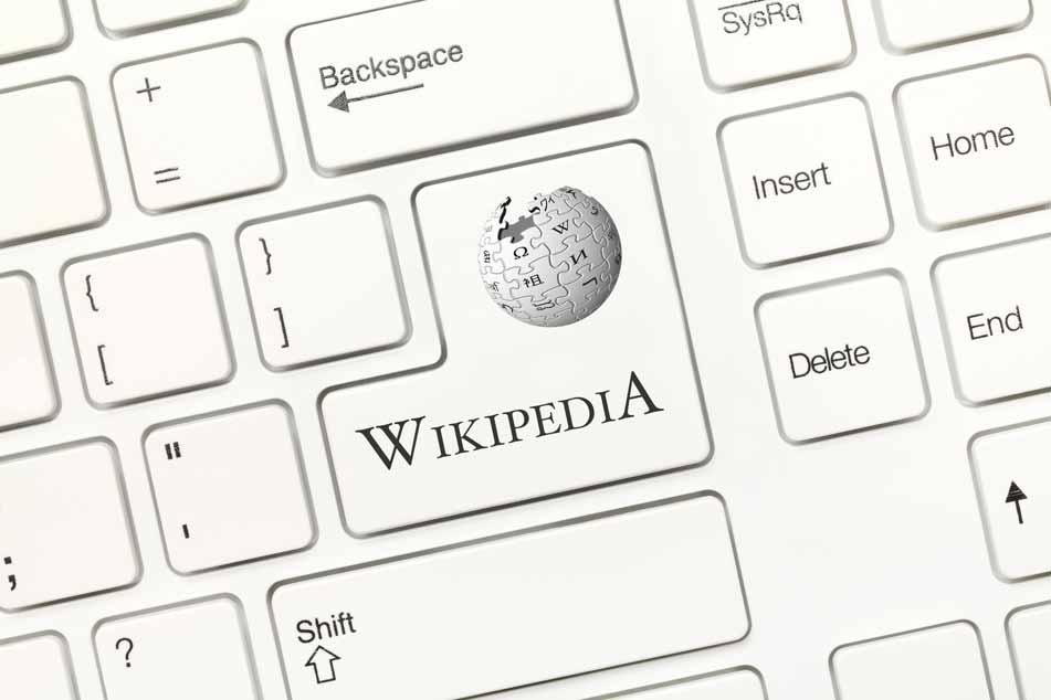 Eine Tastatur mit Wikipedia-Taste.