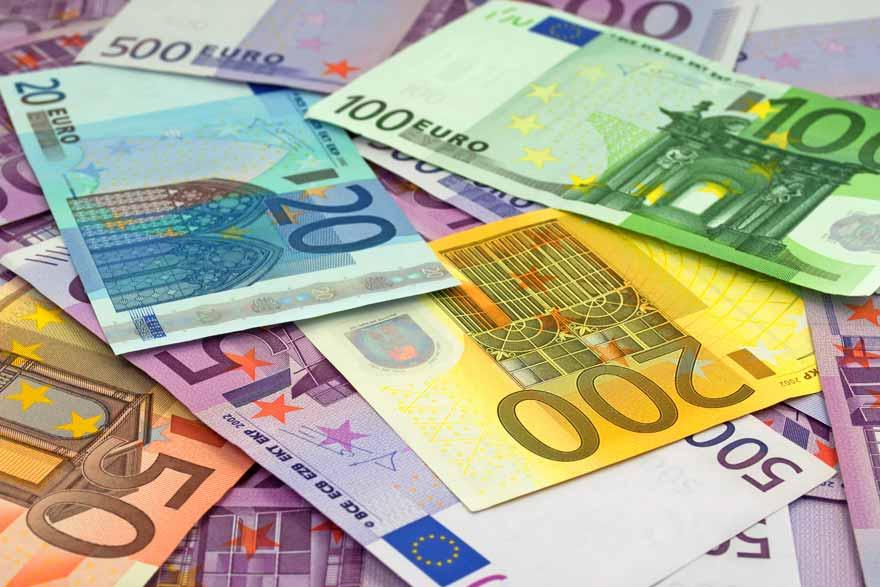 Ein Haufen Euro-Scheine