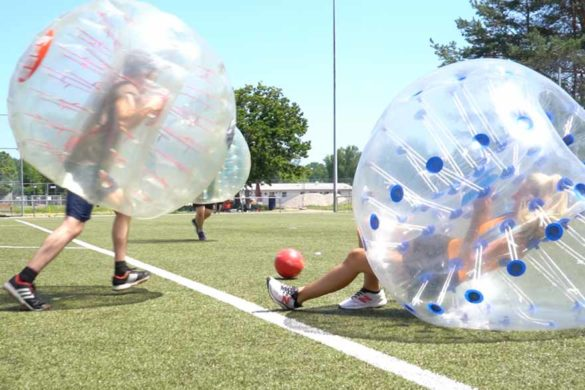 Bubble Soccer Charity Event für das Kinderhospiz Stuttgart.