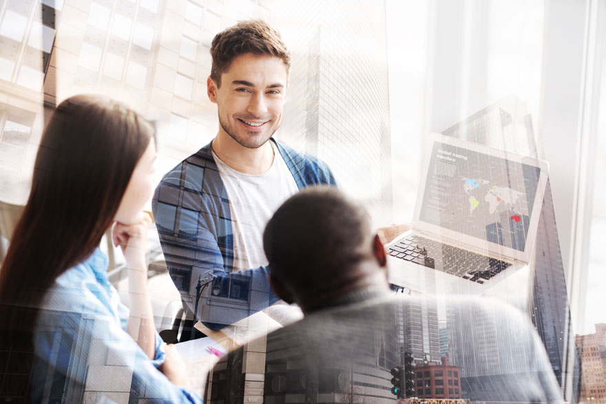 Motiviertes und hart arbeitendes Team aus dem Silicon Valley