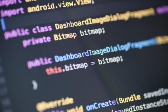 Nahaufnahme eines Java -Quellcodes.