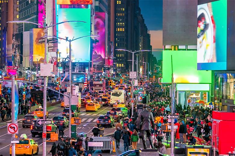 Menschenmassen auf dem Timesquare in New York City