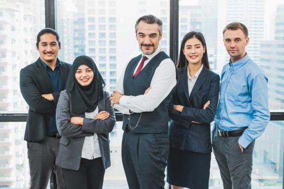 Führungsteam in einem deutschen Unternehmen