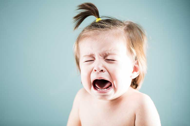Nahaufnahme schreiendes Kind