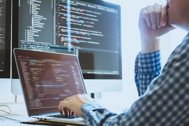App-Entwickler bei der Arbeit