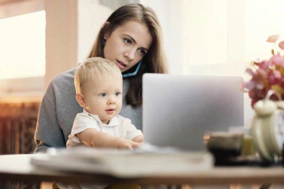 die gleichberechtigung der frau mutter mit kind im homeoffice