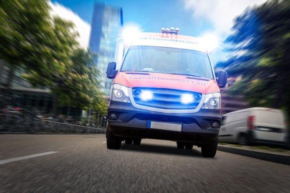 Rettungswagen während der Corona Krise im Einsatz
