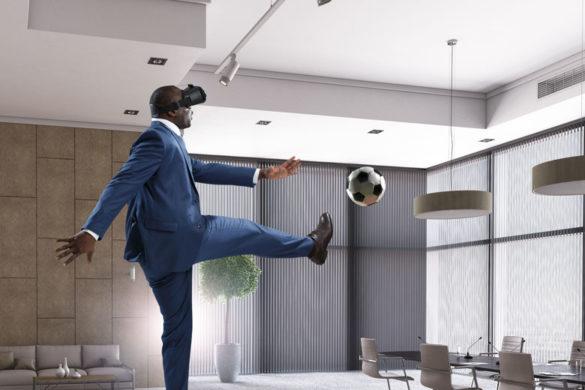 businessman mit VR Brille