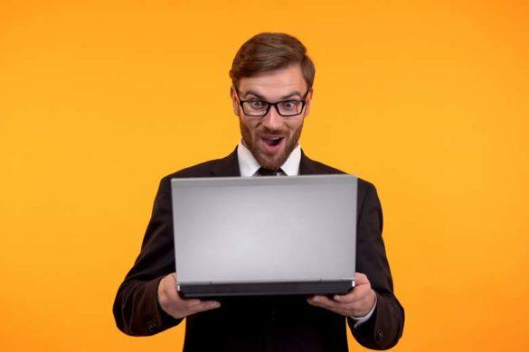 Recruiter freut sich über eine gelungene Portfolio-Website