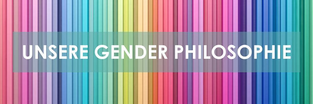 Ein Regenbogen aus Farbstäben als Symbol für die Gender Philosophie der SPECTRUM AG