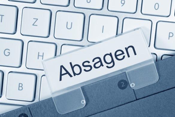 """Absage auf deine Bewerbung: Hängehefter mit der Aufschrift """"Absage"""""""