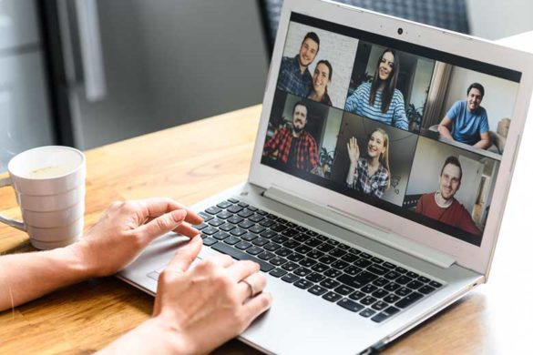 videochat am laptop