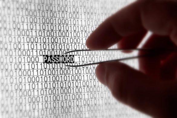Passwort auf einem Computerbildschirm