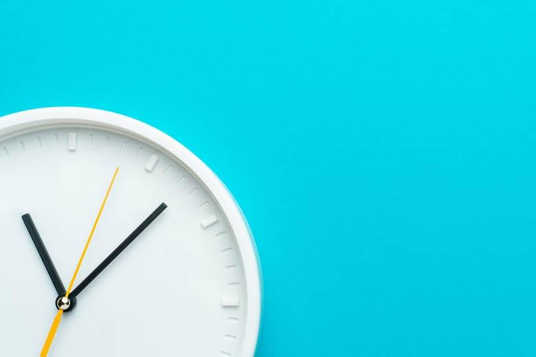 Uhr als Symbol für die Pünktlichkeit im Vorstellungsgespräch
