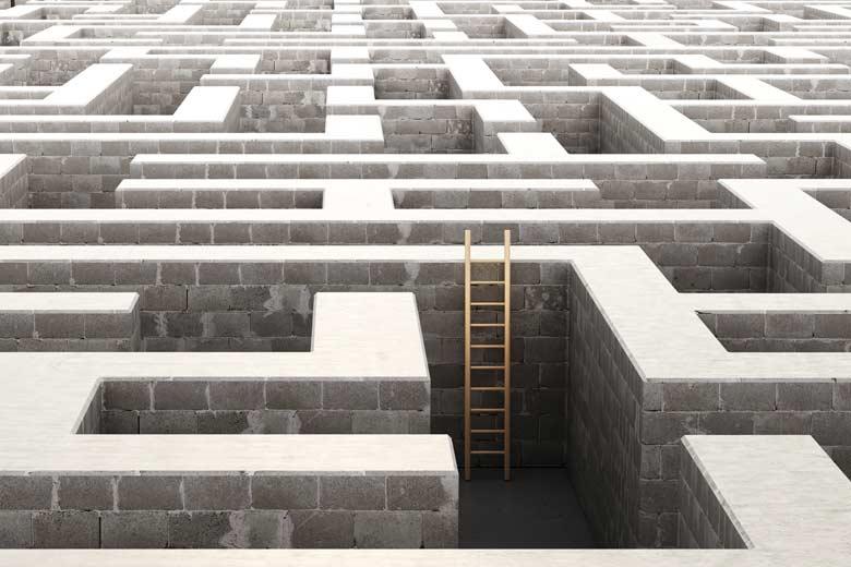 Labyrinth mit Leiter