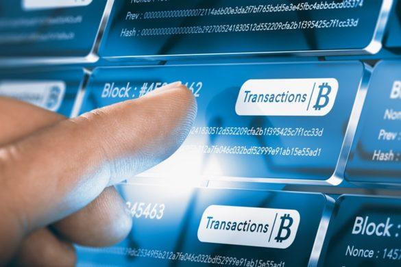 Blockchain-Technologie Bitcoin Transaktion