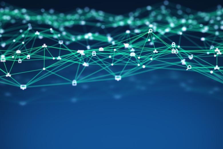 Soziales Netzwerk Blockchain nodes